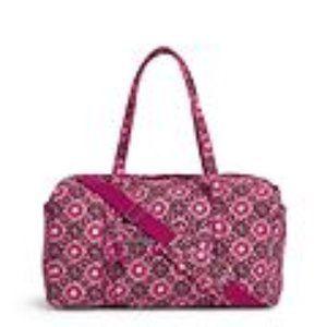 Large Travel Duffel Bag Raspberry Medallion